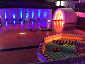 Conant's gym, transformed by Boom Entertainment.