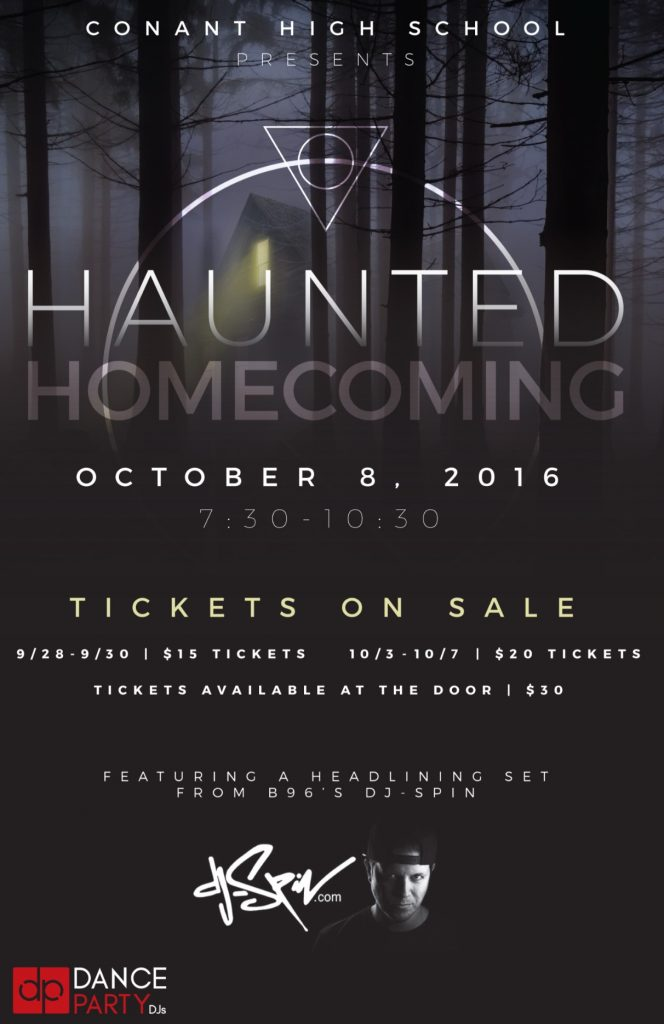 Conant's Haunted Homecoming flyer courtesy of David Moravek
