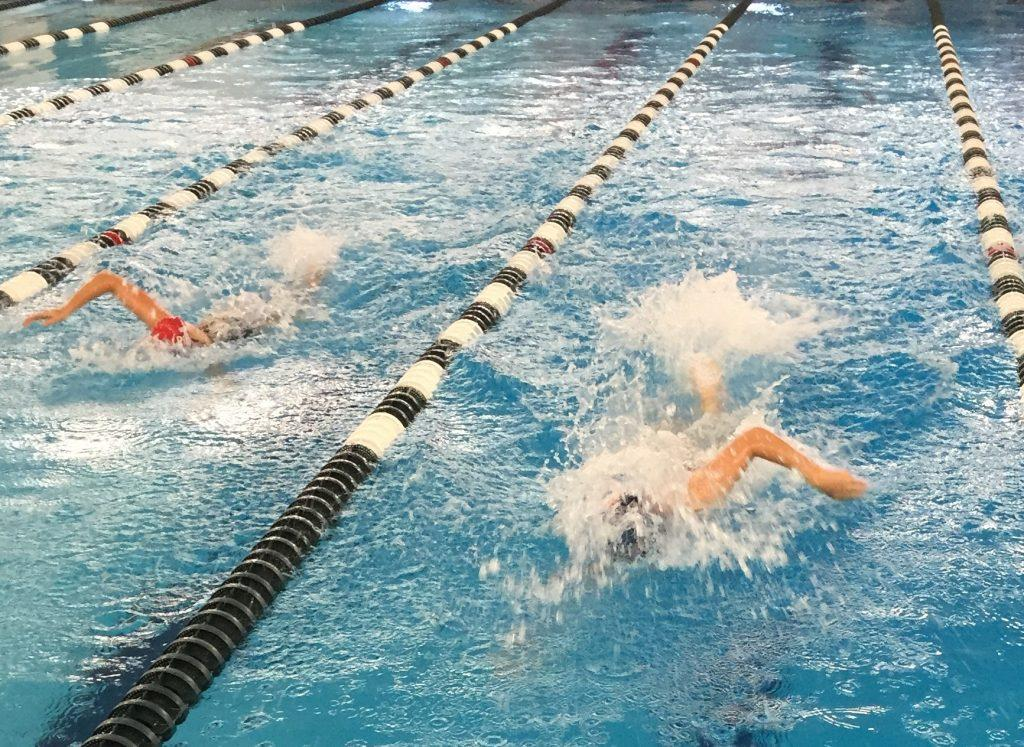 Aly Wooley during her swim.