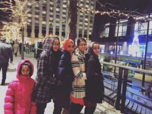 Farisa Khan, her sister, and few family friends seeing Christmas lights