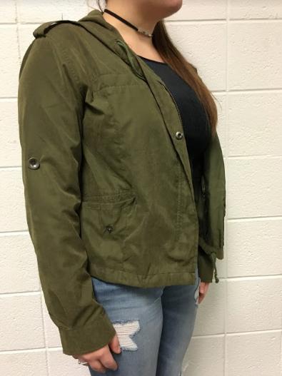 Compton's olive green Khaki jacket.