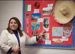 Ms. Doan teaches her students about Mexican culture.