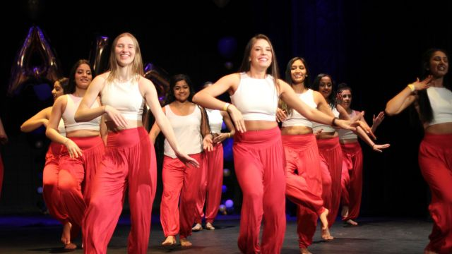 Seniors perform at the IFair night show.